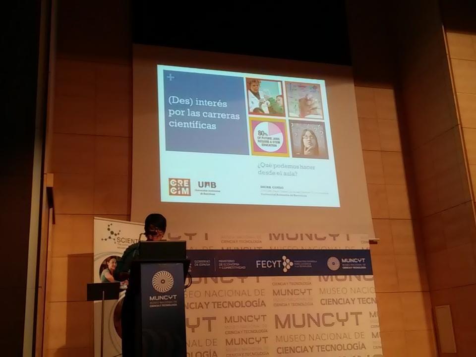 Digna Couso presenta el (Des)interés por las carreras científicas en #ScientixSpain https://t.co/xzQneZnxd0