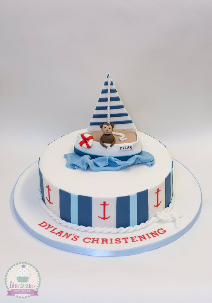 The Little Cake Box on Twitter A nauticalthemed christening cake