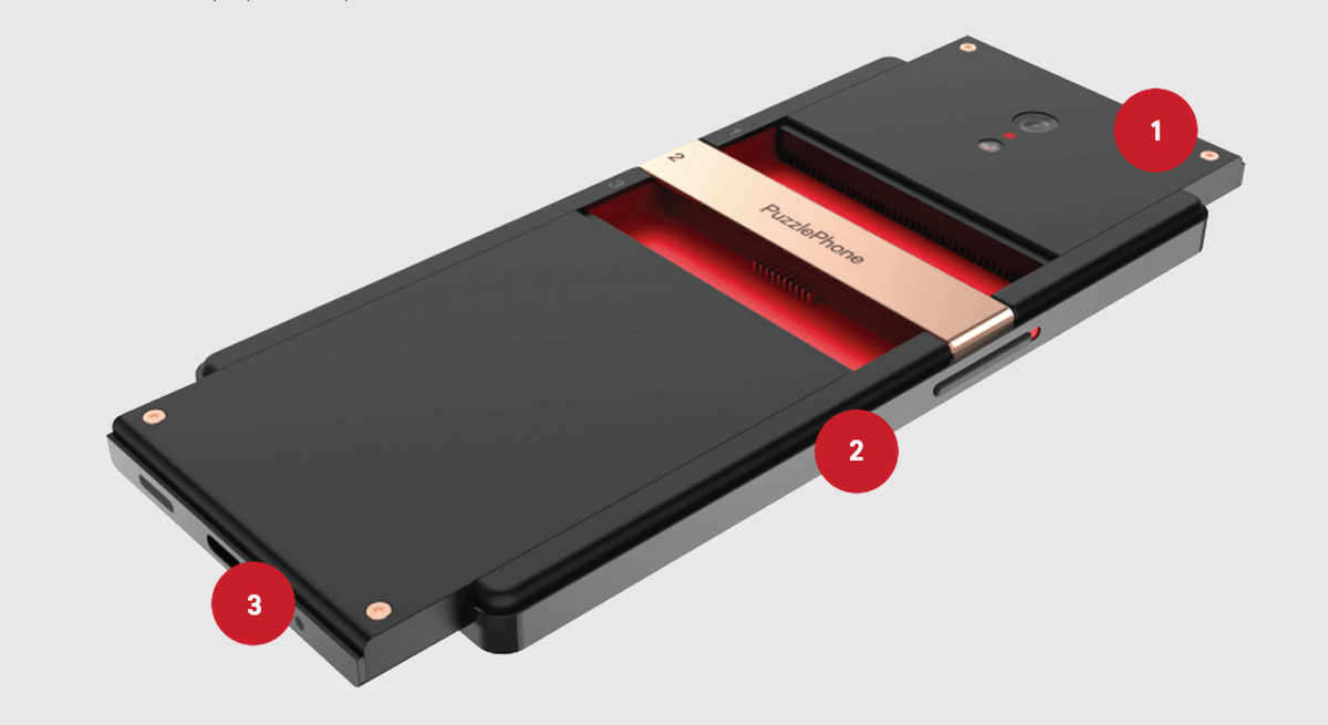 This is #PuzzlePhone:  1. Brain (CPU, etc.) 2. Spine (Body, screen) 3. Heart (Battery)  https://t.co/SBwGUKWnA2 https://t.co/k0Z6oLBbsL