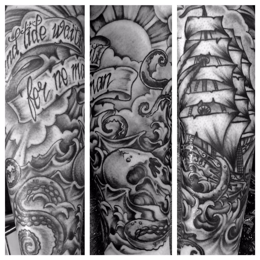 Jamesd On Twitter Time And Tide Wait For No Man Tattoo