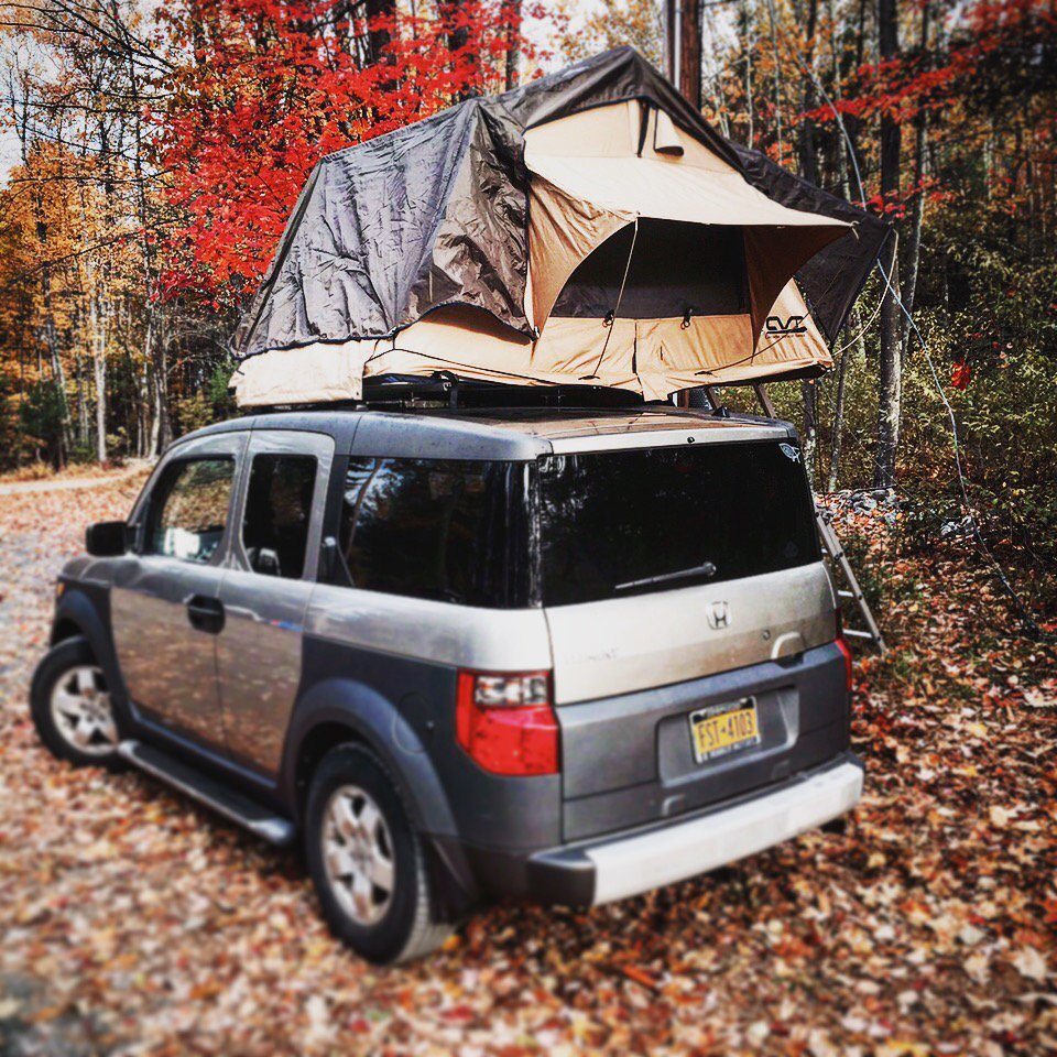 Seen @catskillsconf @Honda #element #c&ing #rooftent #rugged #catskills #doinitright. //t.co/w8D2yvwi61  & Tentrr on Twitter: