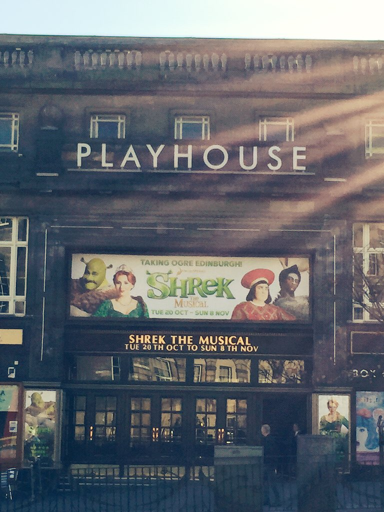 This afternoon we will play to our BIGGEST AUDIENCE EVER... Over 3000 people will be here @edinplayhouse #Shrek https://t.co/VFvzZNeezm