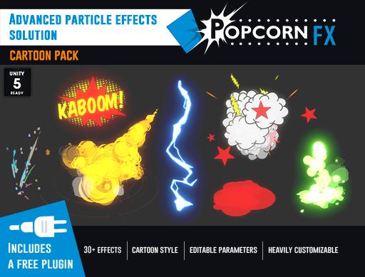 popcornfx on twitter new popcornfx unity3d assetstore cartoon