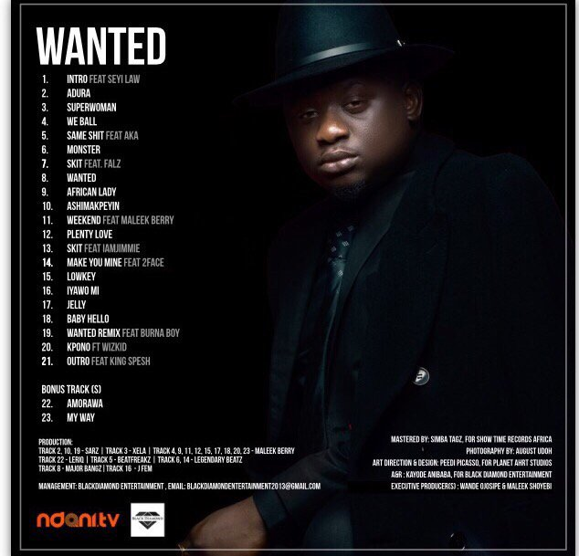 Official Tracklist for the Wanted Album out everywhere Oct 26! God bless the real fans #Iskaba #BlackDiamond https://t.co/Rg8DdNZDSj
