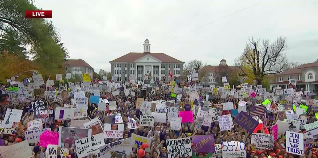 James Madison (@JMU) providing College GameDay with one of the biggest, festive crowds the show has experienced https://t.co/j7Nk6crO9f