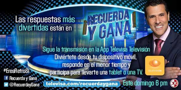 Las Estrellas On Twitter Recuerda Y Gana Este Domingo A Las 6 00 P M Mexico Eresretrosi Marcoregil Rt Https T Co Tny5ttaj5v