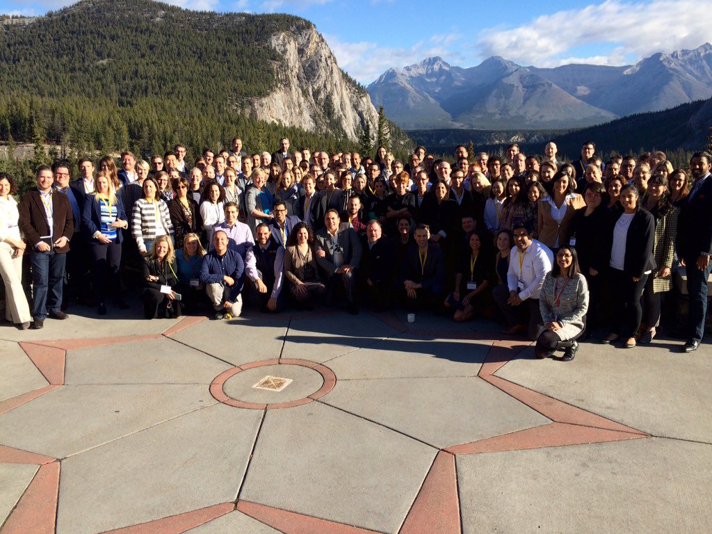 Good looking crew here @banffforum #BFCA15 https://t.co/lE972866Fc