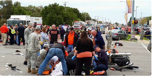 #PrayforOSU  This is awful -- 3 dead, 10 critical, 27 airlifted after car plows into OSU homecoming crowd. https://t.co/JcLN1YNB4a
