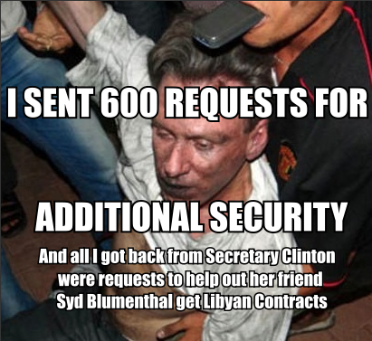 Chris Stevens sent 600 requests for security