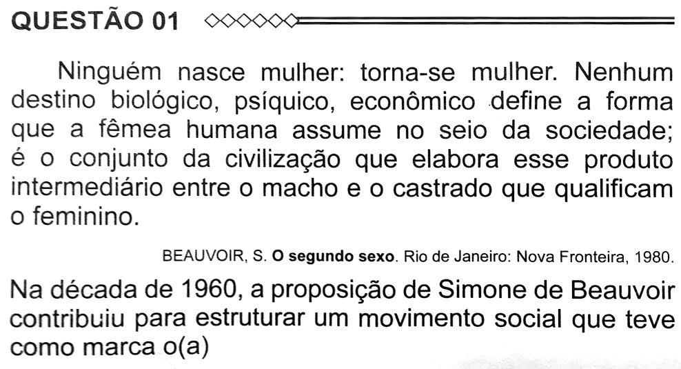 Citação da filósofa e escritora francesa Simone de Beauvoir caiu no #Enem2015: https://t.co/B51fZRQRcR