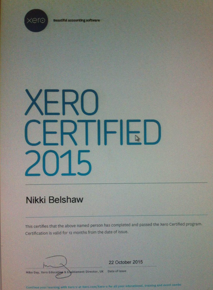 Nikki Belshaw Aiab On Twitter I Passed The Xero Certification Exam