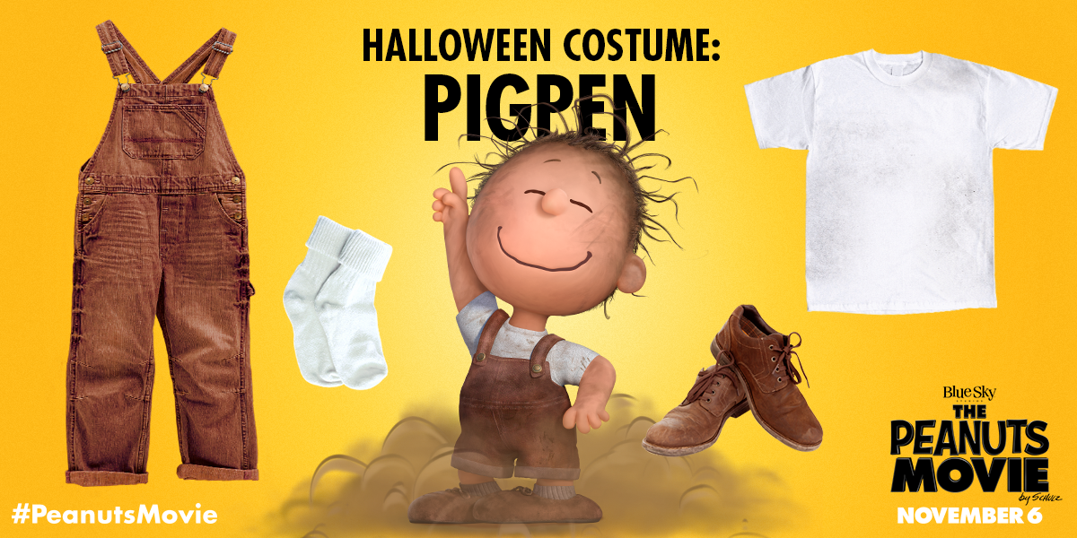 the peanuts movie on twitter all you need is this outfit and a whole lot of dust whos going as pigpen this halloween httpstcoogksv98ktv