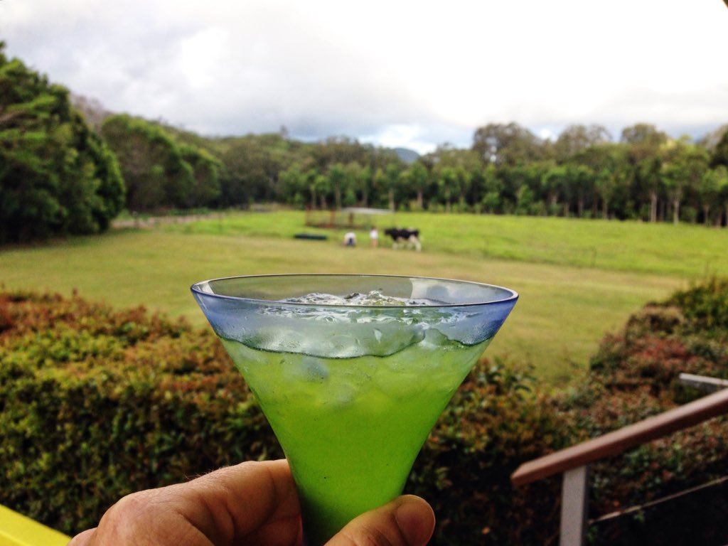 green cocktail that looks thirst quenching