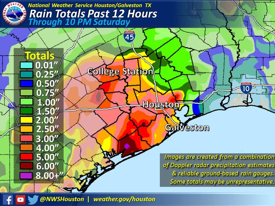 More torrential rain falls on top of overflowing waters in Texas