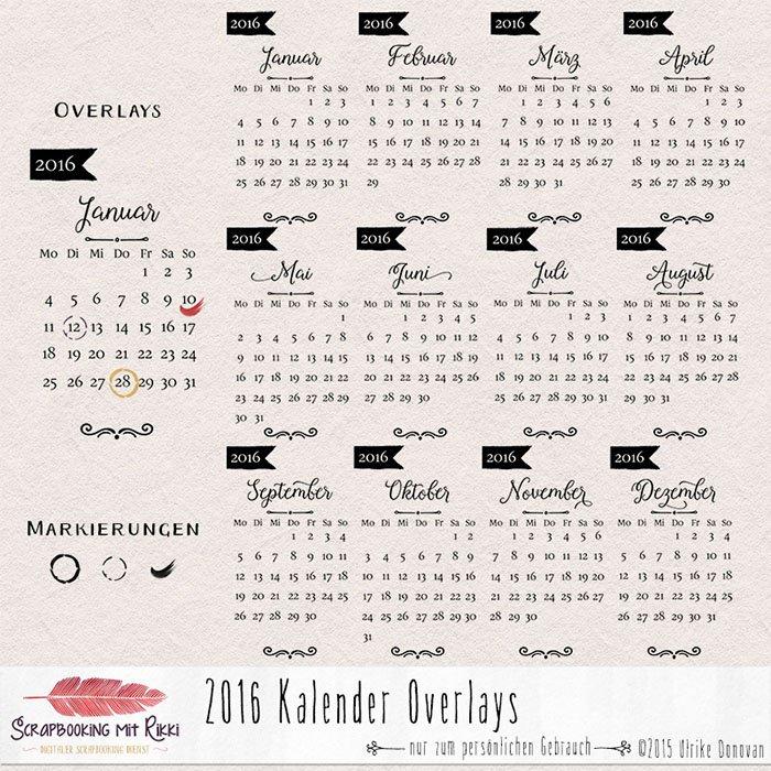 """Rikki Donovan On Twitter: """"2016 Kalender Lesezeichen Und Overlays"""