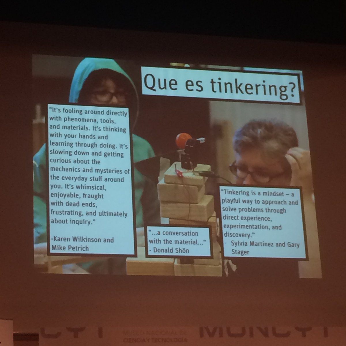 Por si os lo estáis preguntado, Tinkering es todo esto:  #ScientixSpain https://t.co/qxSnnOr72w