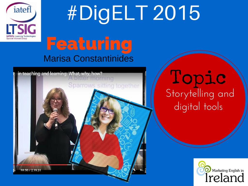 @Marisa_C 's talk on Digital Story telling  at #DigELT2015 https://t.co/oeim3XbTxB #eltchat #edtech #e-learning https://t.co/UwSIQx7y1F