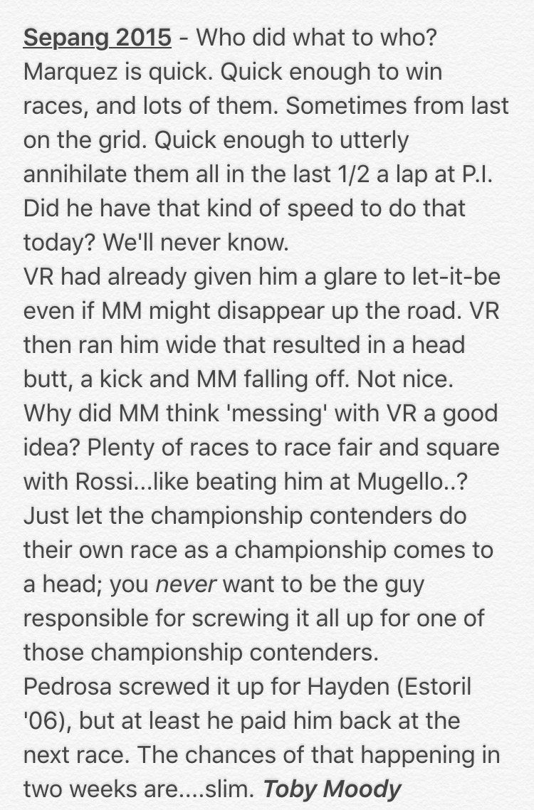 My thoughts after a dramatic day of #MotoGP https://t.co/ogMH2qGTH7