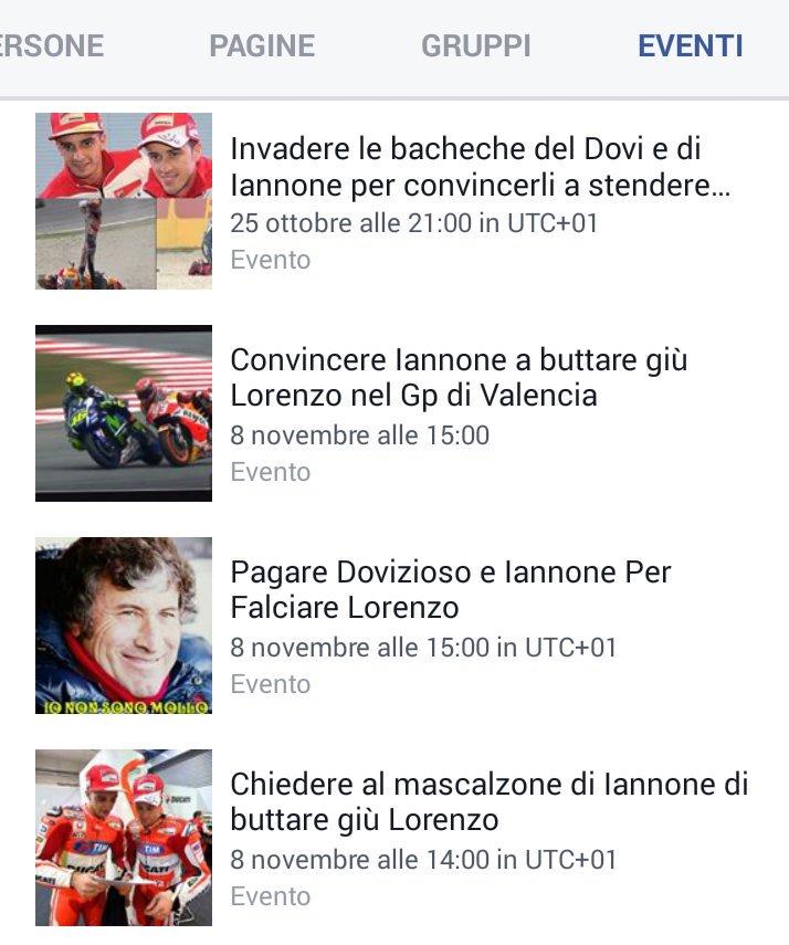 Eventi su Facebook Pro Valentino Rossi :-)