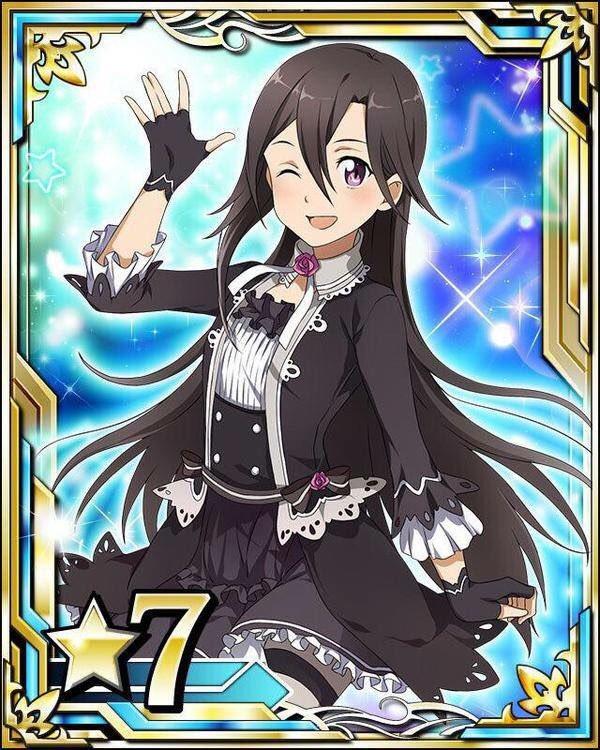 "《 A S U N A 》 On Twitter: ""SAO End World. Idol Cards! Sinon, Yuuki, Leafa And"