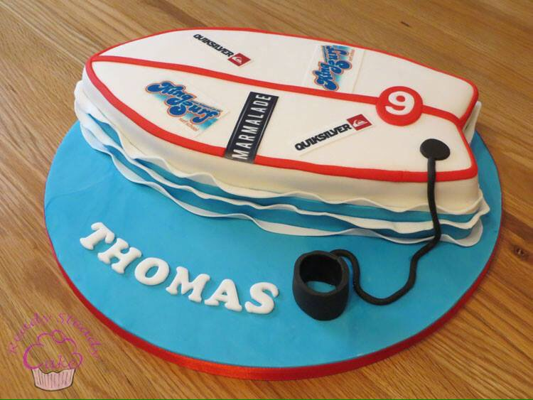 Awe Inspiring Ready Steady Cake On Twitter Surfboard For Thomass 9Th Birthday Personalised Birthday Cards Petedlily Jamesorg