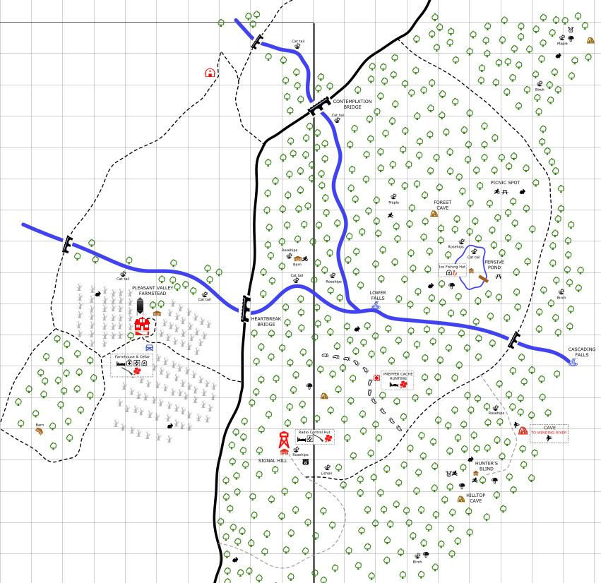 Whiteberry on Twitter Progress on the Pleasant Valley map in