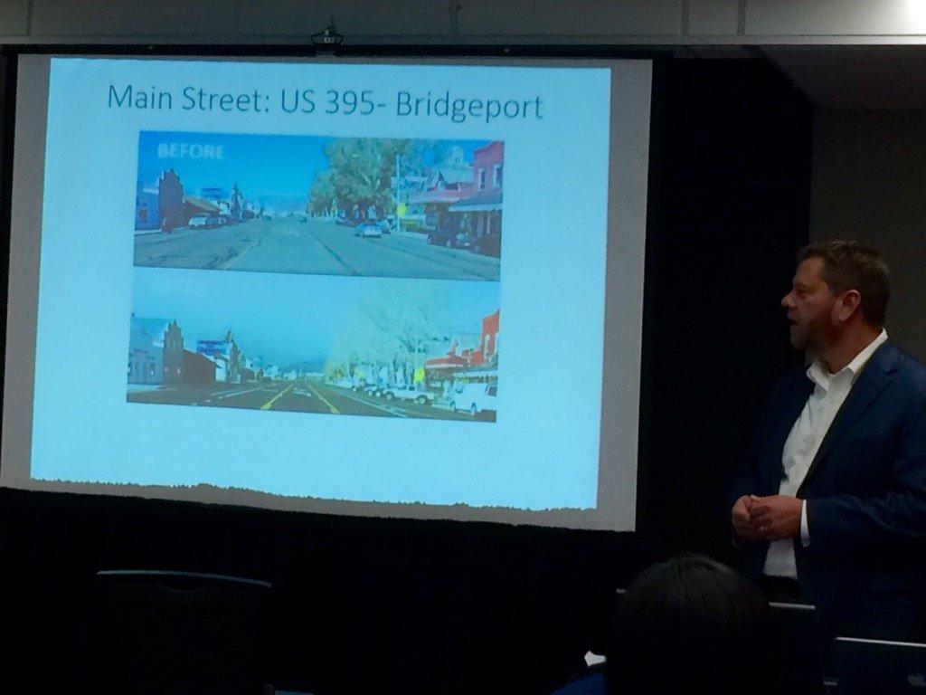 @Caltrans showing off Bridgeport CA road diet with bike lanes, back-in angled parking #bikesummit @walkoakbikeoak https://t.co/ZH7sVZBQ3K