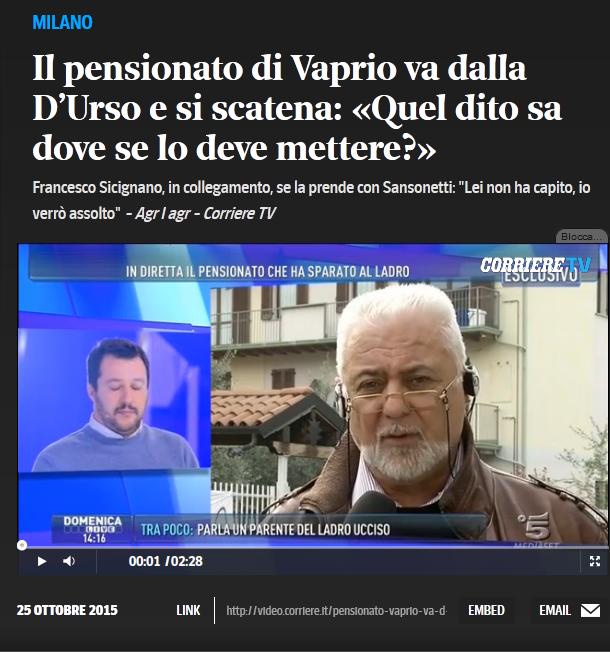 Il pensionato Francesco Sicignano
