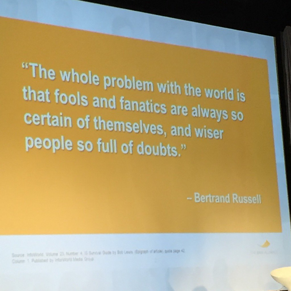 Great Bertrand Russell quote via @larryswedroe at @TheBAMALLIANCE national conference: https://t.co/phFAHc3ULz