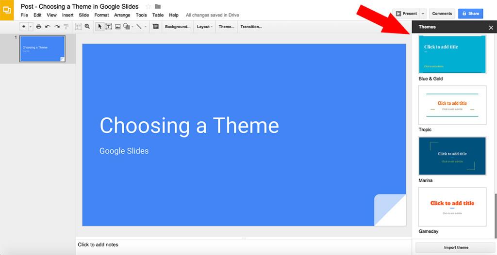 free google slides on twitter choosing a new google slides theme