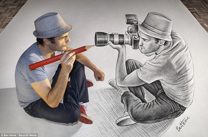 Foto Sketsa Sketsa 3d Goresan Pensil Yang Mengagumkan Chirpstory