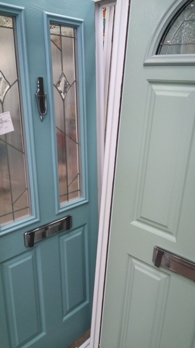 Endurance Doors on Twitter  A Turquoise Pastel Etna and Chartwell Green Eiger waiting to be delivered. #solidandsecure @REHAUWindows @metsawood ... & Endurance Doors on Twitter: