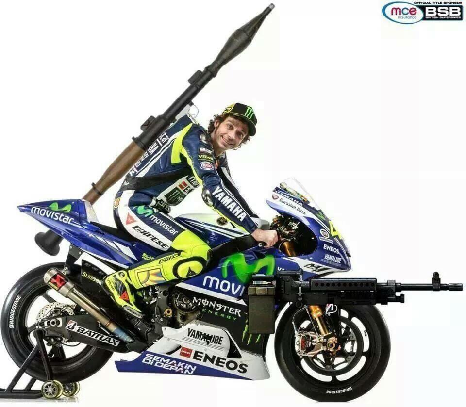 Valentino Rossi super corazzato :-)