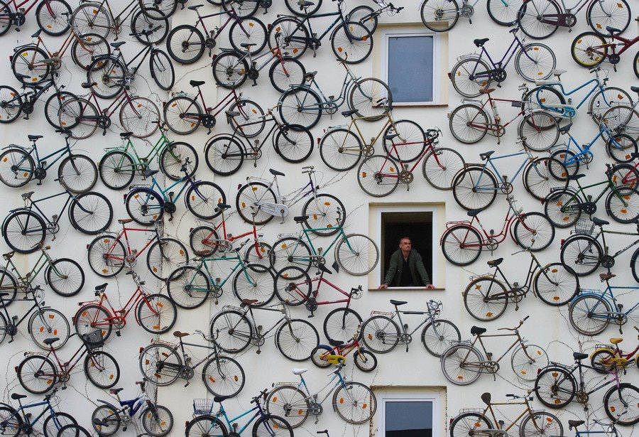 Wall of #Bicycles https://t.co/1y35fMGhtT #design https://t.co/9yAMh1dMyH