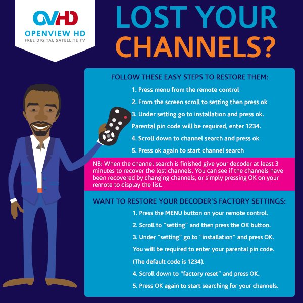 how to put free channels on dstv hd decoder