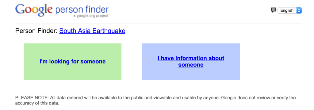 google on twitter person finder launched to help track missing