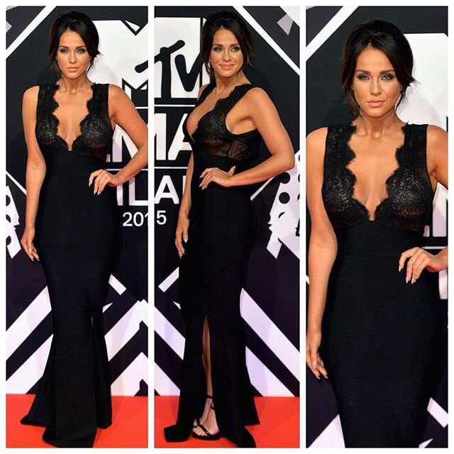 sheworeit: Vicky Pattison's House Of CB Balere Black Semi ...