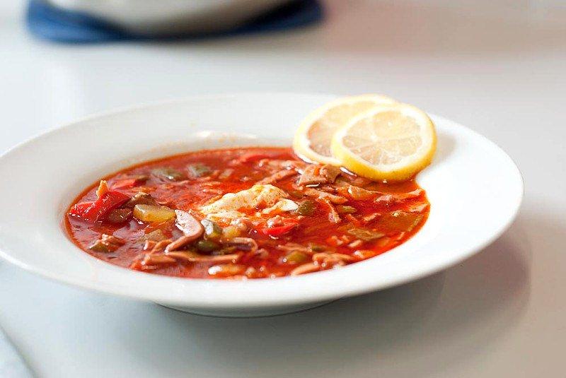 Солянка из колбасы рецепт с фото