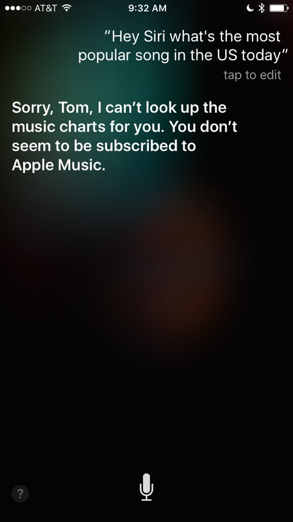 I guess Siri won't talk to you about music unless you pay her boss? https://t.co/b6Xwcf3EYR