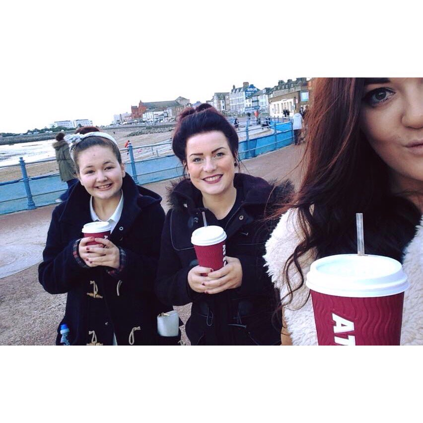 Love my ladies #Costa #cutewalk ☕️☺️💜
