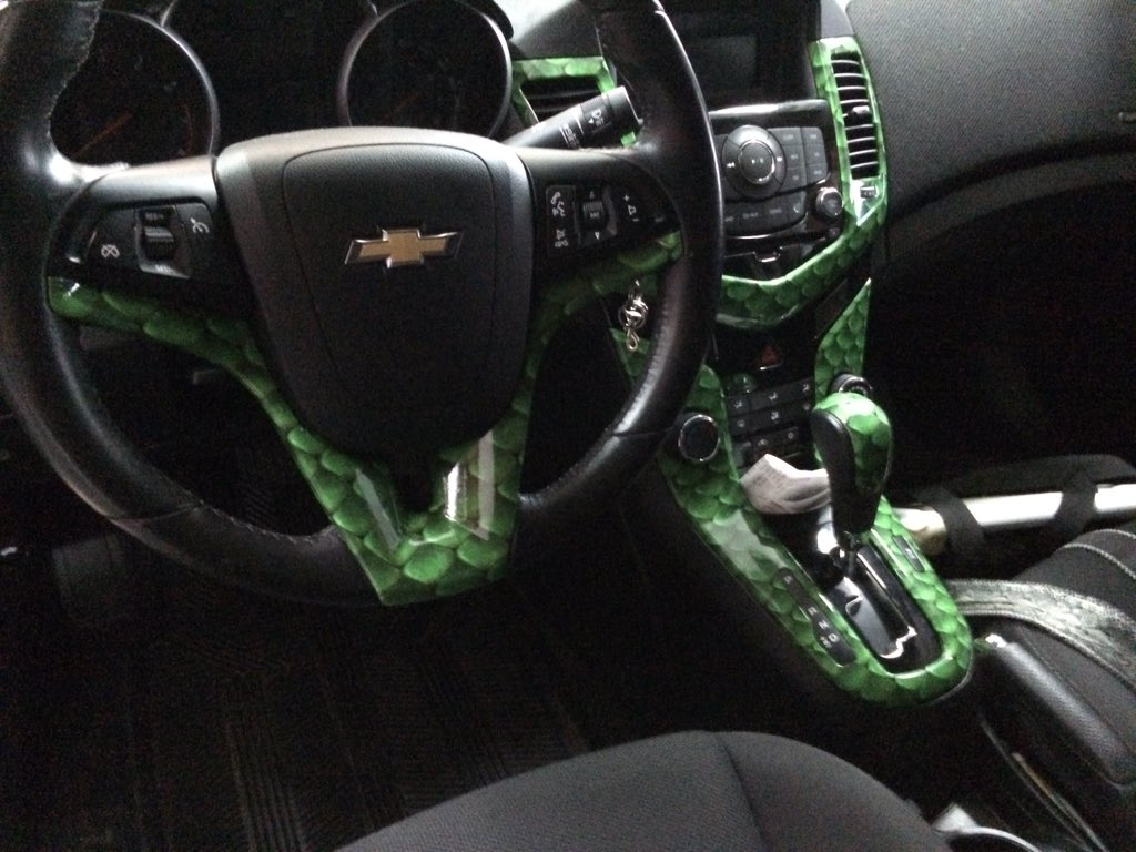 js auto group on twitter custom snake skin interior on this chevy cruze jsagroup 3mwraps. Black Bedroom Furniture Sets. Home Design Ideas