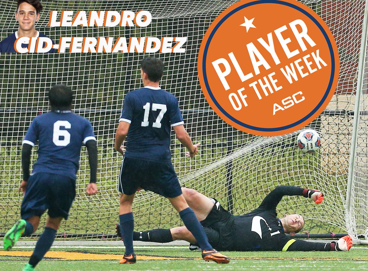 #TalonsUp for Leandro Cid-Fernandez who earned ASC Offensive Player of the Week after scoring 4 goals last week. https://t.co/3I7M2SPN5U