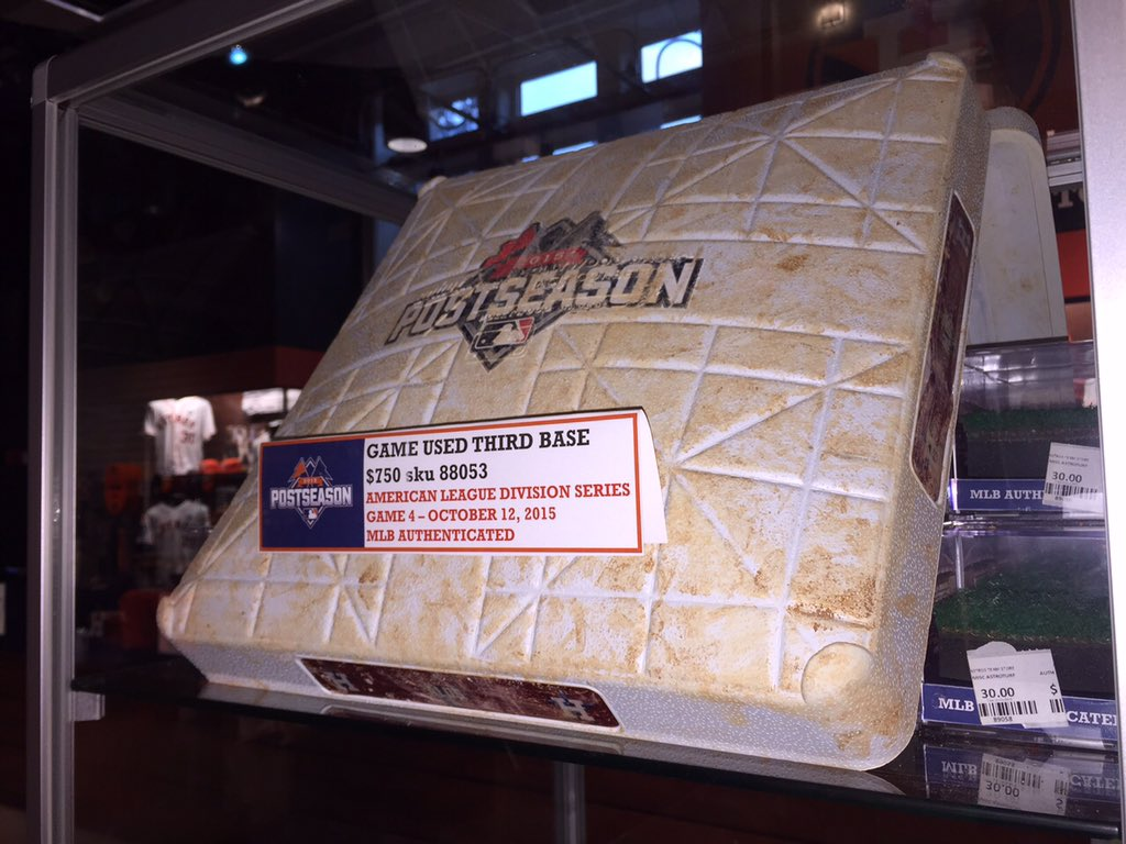 7c7539426d3 authenticated game used postseason jerseys baseballs helmets and bases now  at the astros team store