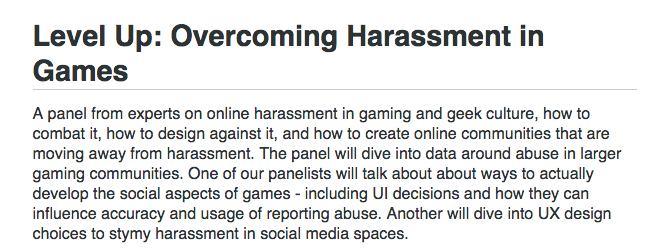 #irony #sick RT @tauriqmoosa: This is a panel that was cancelled... due to online harassment. Let that sink in. https://t.co/lB9ZqQG0vk