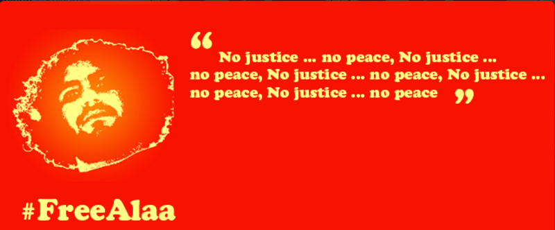 #FreeAlaa No justice ... No peace https://t.co/2Ki0a4msBq