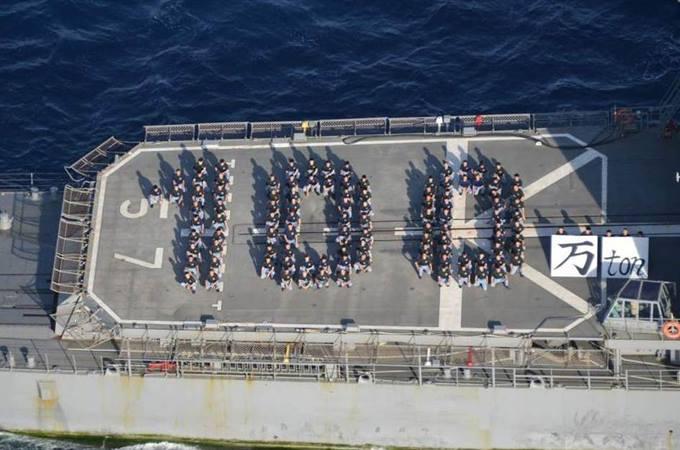 おはよう!今日は気持ちいい朝ですね頑張ってまいりましょう!第22次海賊対処部隊「さわぎり」さん護衛船舶総トン数100万トン達成って・・・1隻5千トンでも200隻頑張ってますよ自衛隊。※連艦隊帰国しますね(くまさん) pic.twitter.com/LydH8fkbCx