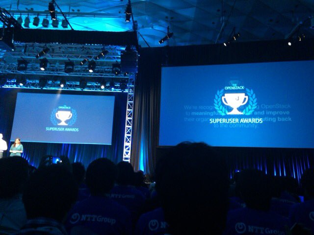 Amazing! we got OpenStack superuser award !! #OpenStackSummitTokyo https://t.co/o3iCfy9DRO