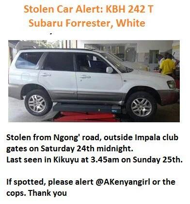 Please be on the lookout. My car has still not been found.  #KBH242T,  white Subaru Forrester. https://t.co/Mh0nSEI745