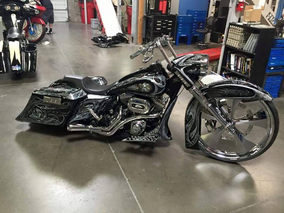 90 Harley Bagger Custom Paint Jobs