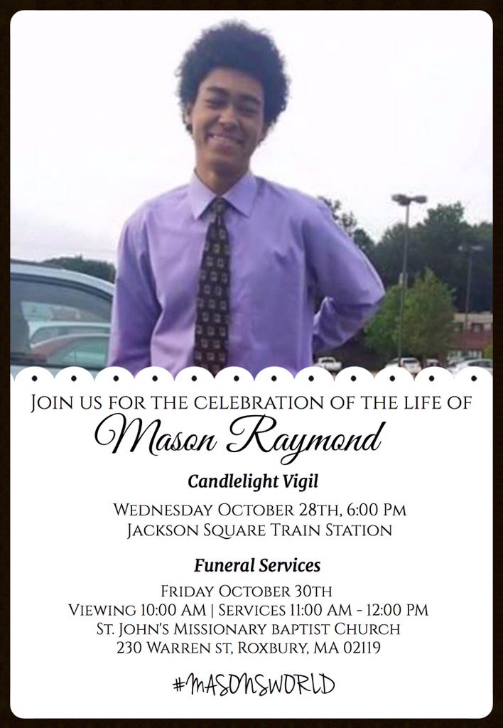 Here is the info for the services for Mason . Please spread the word #MasonsWorld 〽️